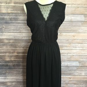🌲Christmas New  Maxi black dress H&M Sz M